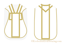 Roman Chasuble Patterns w/ V-Neck Trim | Vestment & Chasuble Patterns