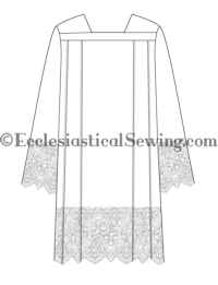 Surplice Pattern (Roman or Square Yoke - with Lace Hem) | Surplice & Vestment Patterns