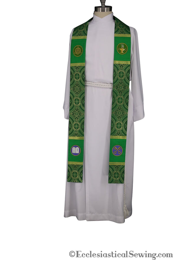 Stole Style #1 in the Saint Cyril of Alexandria Ecclesiastical Collection (QS)