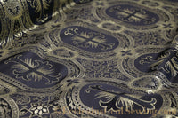 Religious Brocade Fabric with Oval and Cross | Church Fabrics and Linen