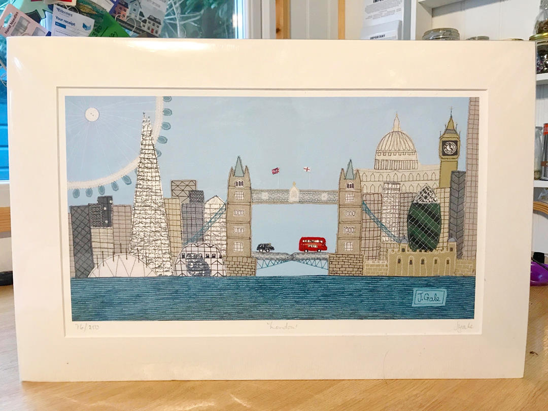 London By Jackie Gale, Textile Art