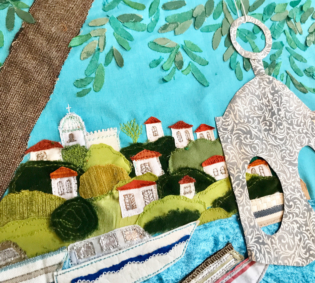 Greek Textile Art In Progress By Jackie Gale