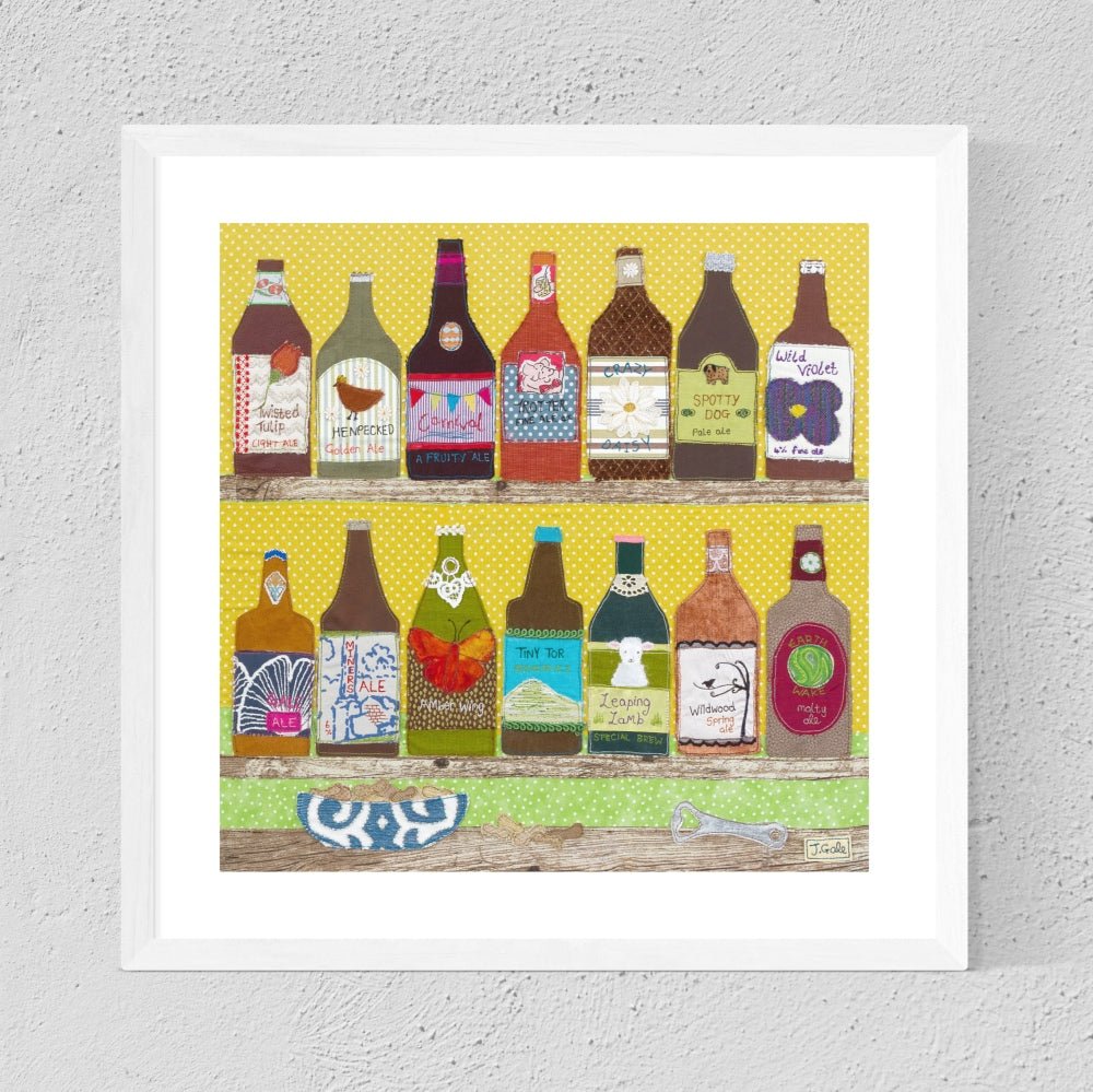 Rum Shack Textile Art Print By Jackie Gale