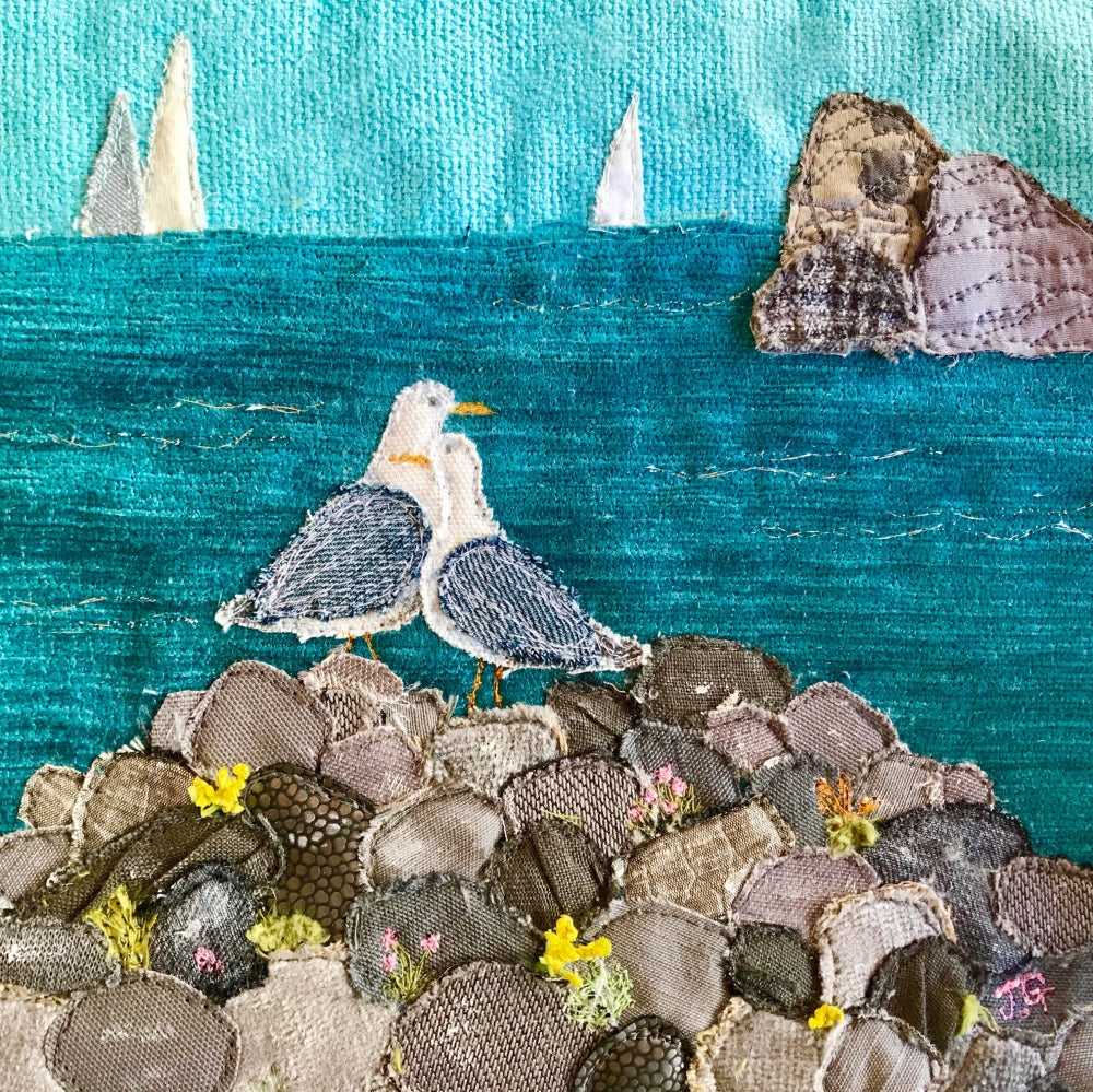 Love On The Rocks - Jackie Gale Textile Art