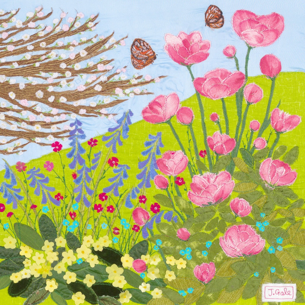 A Day In May by Jackie Gale Textile Art, Devon Artist