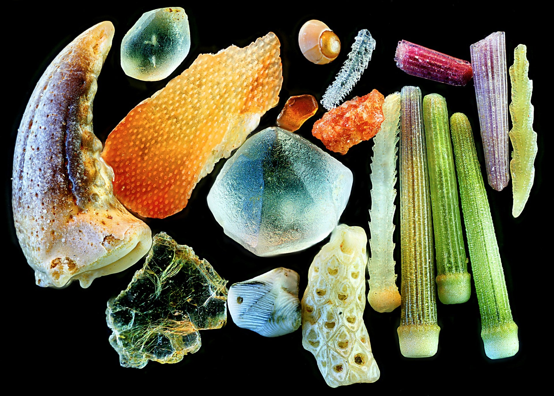 Sand under a microscope - Jackie Gale Artist