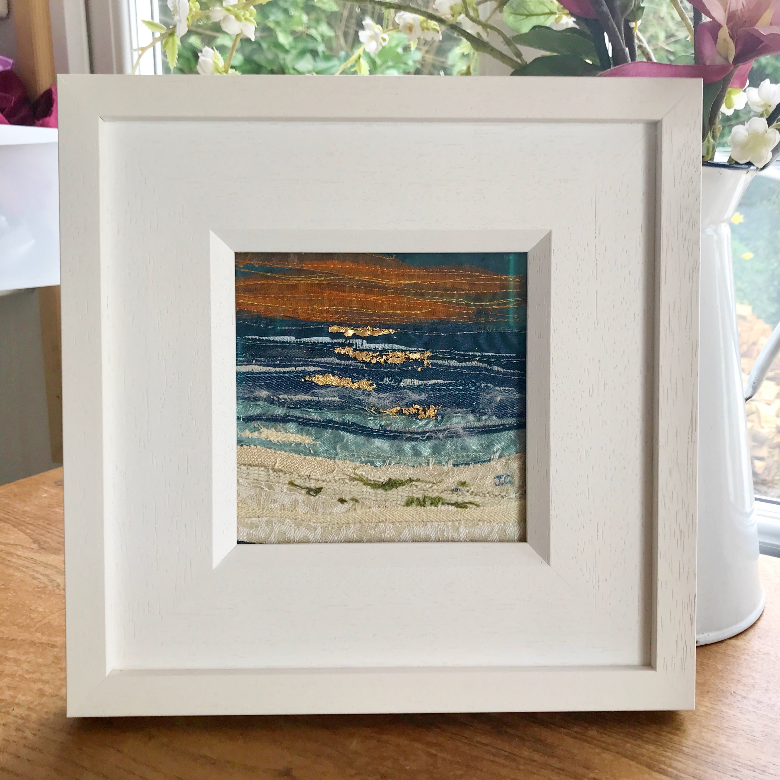 Seascape By Textile Artist, Jackie Gale