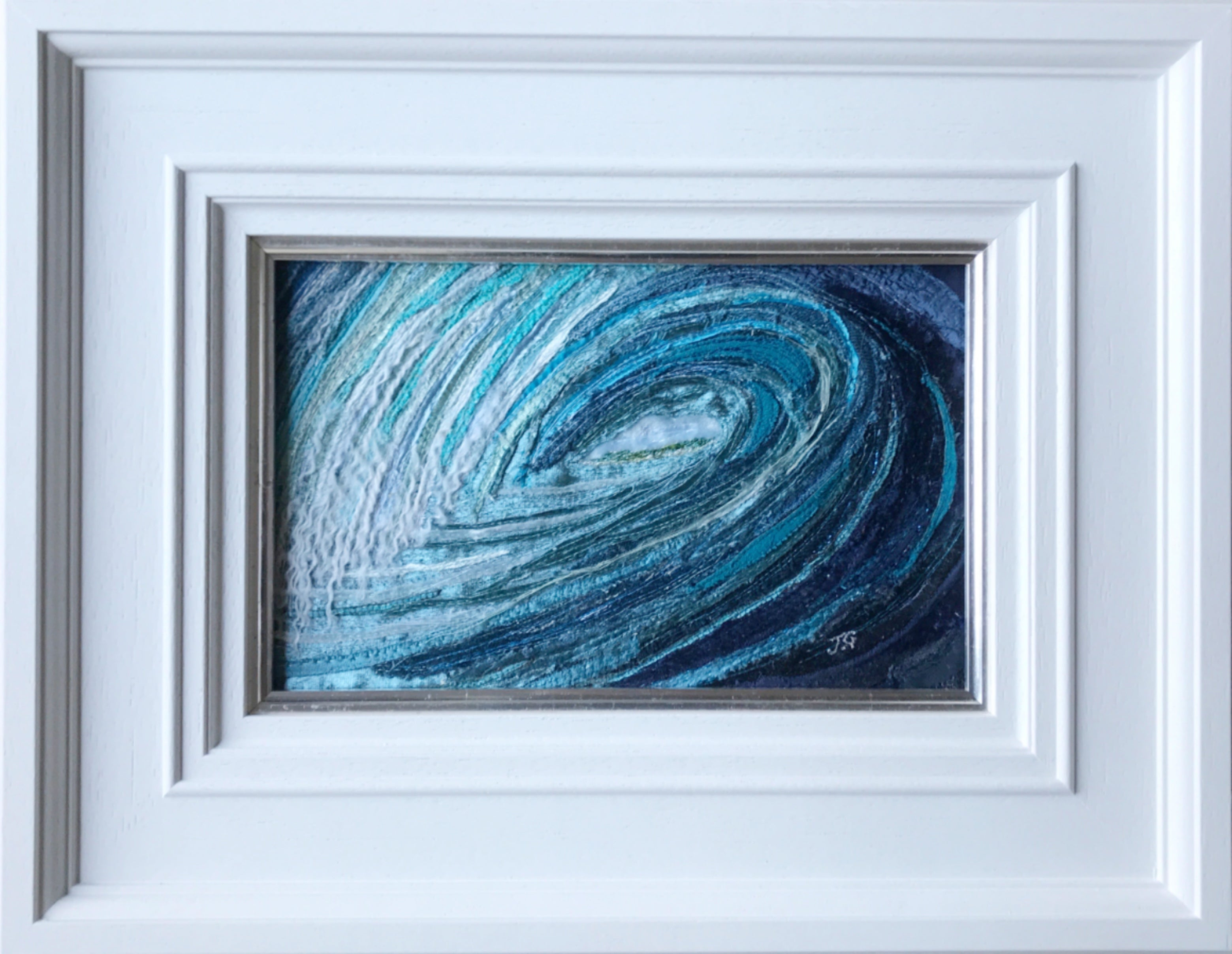 Wave Art By Textile Artist Jackie Gale