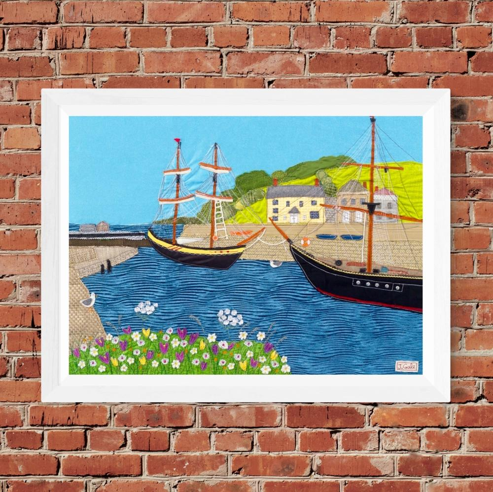Charlestown - Art Print By Jackie Gale, Devon Artist