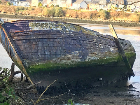 Boat Wrecks In Hooe Lake By Jackie Gale