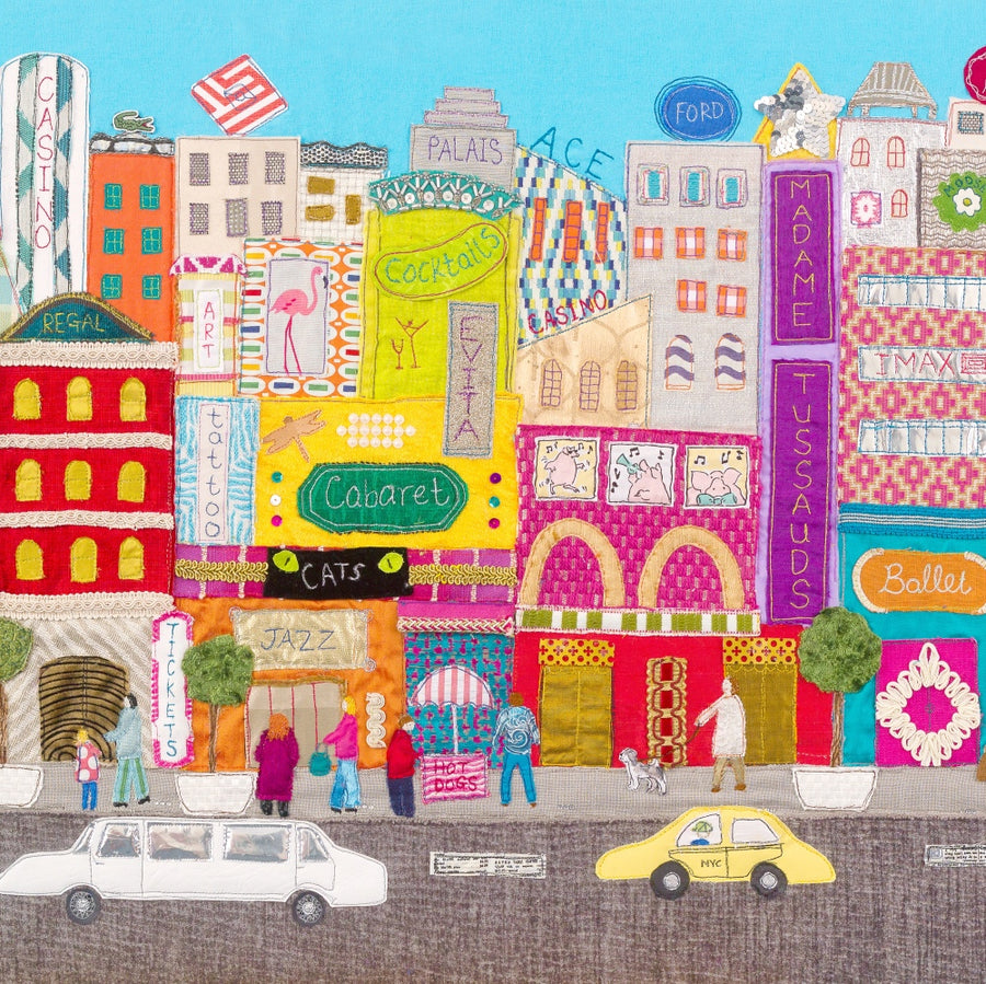 New York Textile Art - Limited Edition Print - Jackie Gale Textile Art