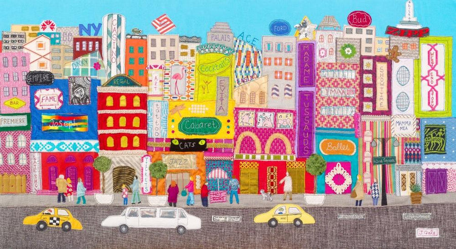 New York Textile Art - Limited Edition - Jackie Gale, Devon Artist
