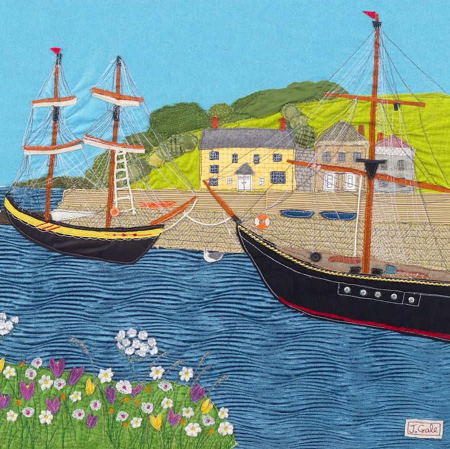Charlestown - Art Print - Jackie Gale Textile Art