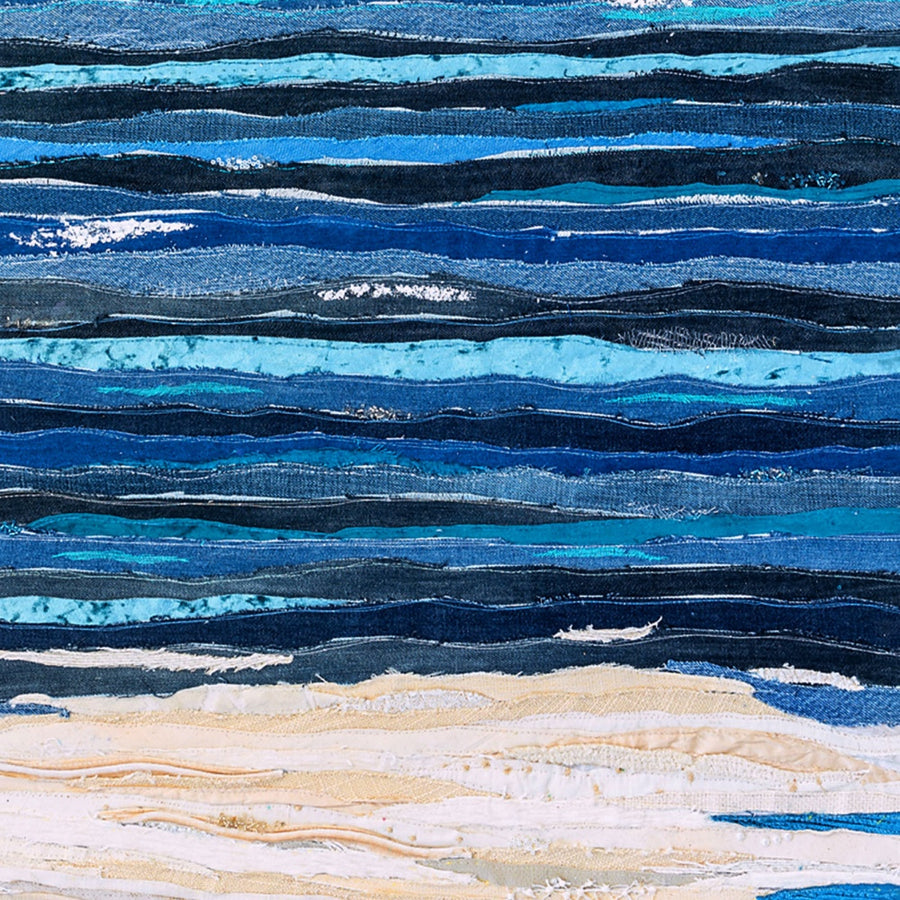 Ocean Textile - The Knowing Sea By Jackie Gale Art