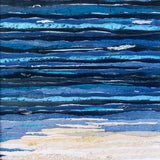 Ocean Texture Abstract textile art by Jackie Gale