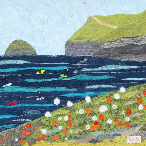 Polzeath Art Print By Jackie Gale