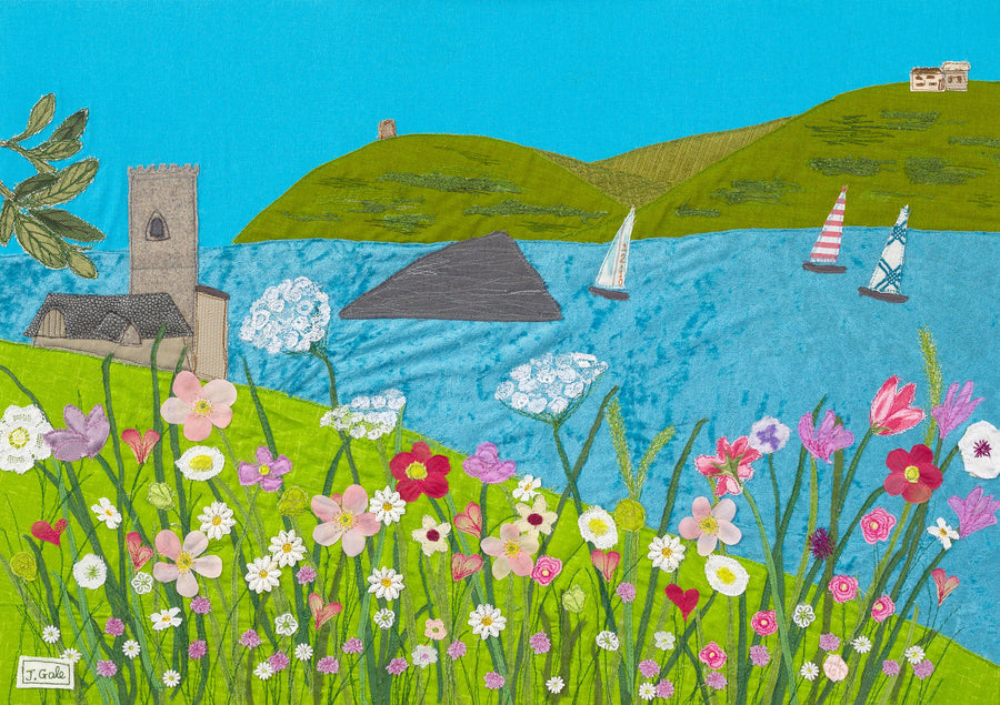 Wembury Days - Art Print (Limited Edition) - Jackie Gale, Textile Artist