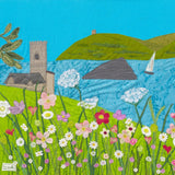 Wembury Days Textile Art By Jackie Gale, Devon Artist
