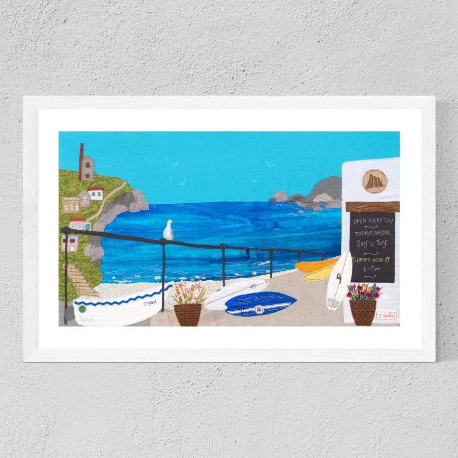 St Agnes Textile Art - Limited Edition Print - Picture - Cornwall