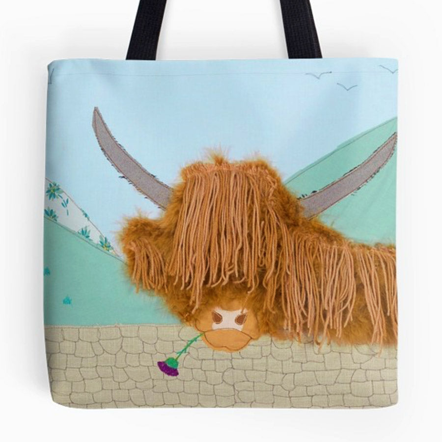 Highland Cow Bag - Jackie Gale Textile Art, Devon