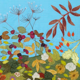 Autumnal Artwork - Bracken,  Berries, Rosehip, Textile Artist, Devon