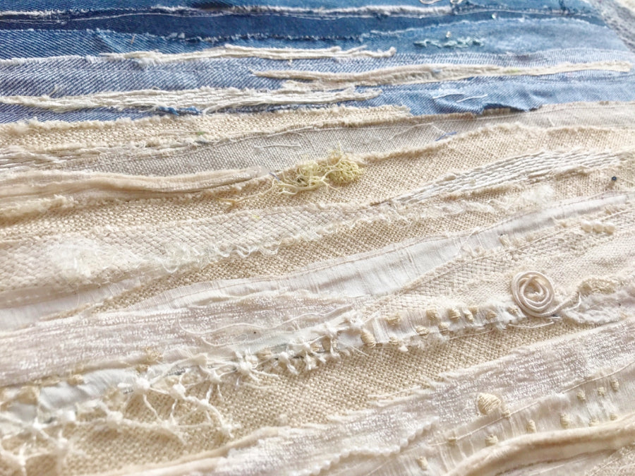 beach textile art by jackie gale