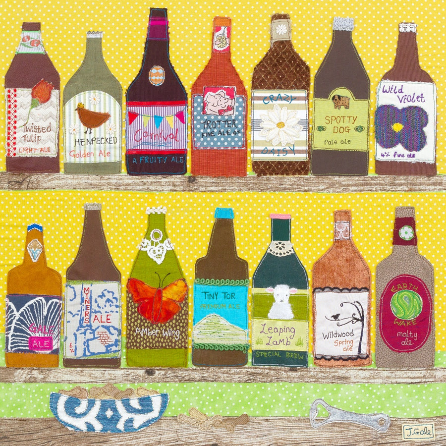 Beer Textile Art By Jackie Gale