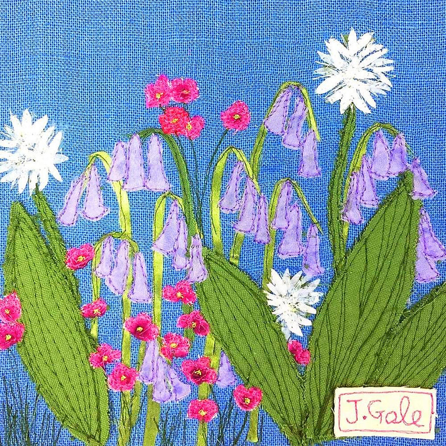Bluebells Canvas Print by Jackie Gale, Textile Artist