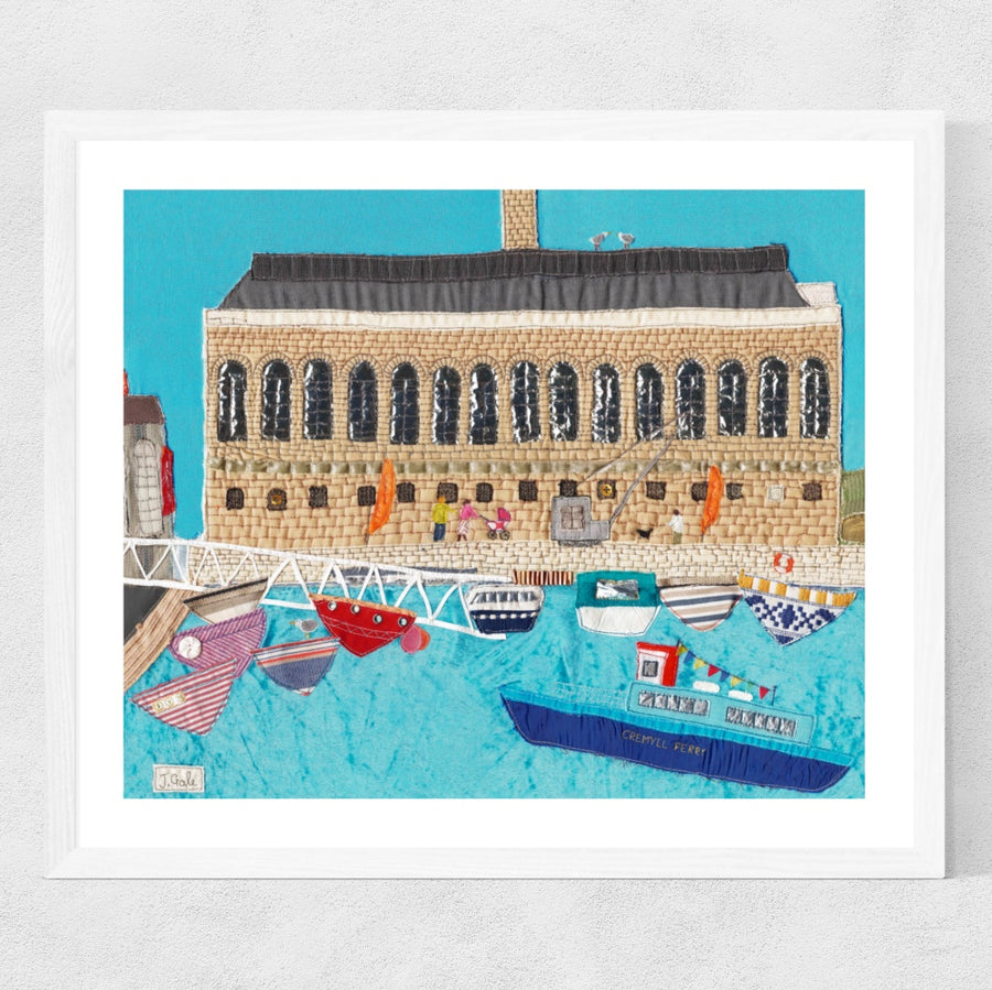 Royal William Yard - Plymouth - Original Textile Art - Picture