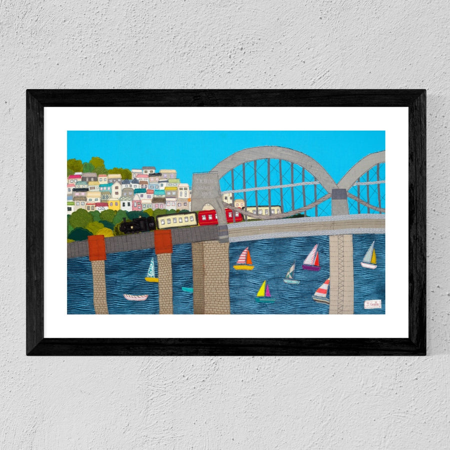 Brunel Bridge Original Textile Art By Jackie Gale