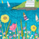 Burgh Island Textile Artwork Detail - Flowers - South Hams, Devon