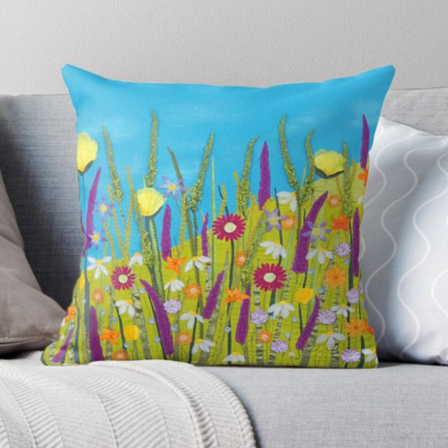 Calypso Cushion - Summer Themed Design By Jackie Gale, Textile Artist