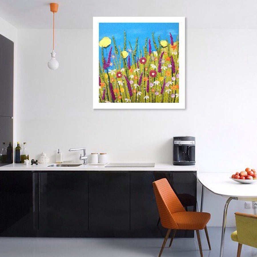 Calypso - Kitchen Setting - Textile Art Flower Picture