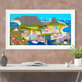Cape Memories - Framed Textile Artwork, Devon Artist