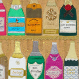 Champagne Bottles - Textile Artwork Prints