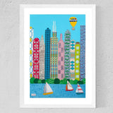 Chicago - Original Textile Art - Jackie Gale