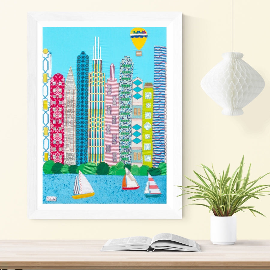 Chicago Textile Art - Limited Edition Artwork Print Picture