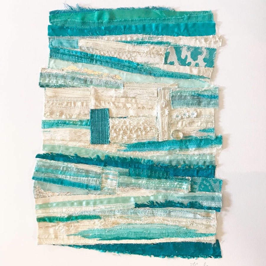 Coast - Abstract Original Textile Art - Picture - Devon Artist