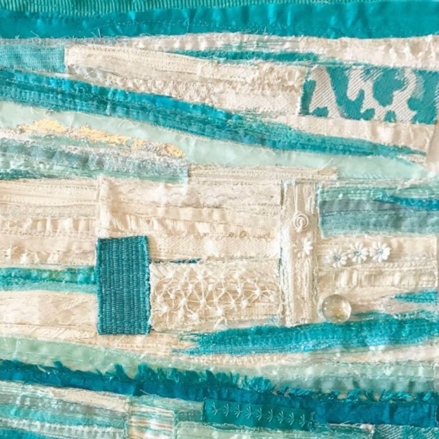 Abstract Textile Art By Jackie Gale, Devon Artist