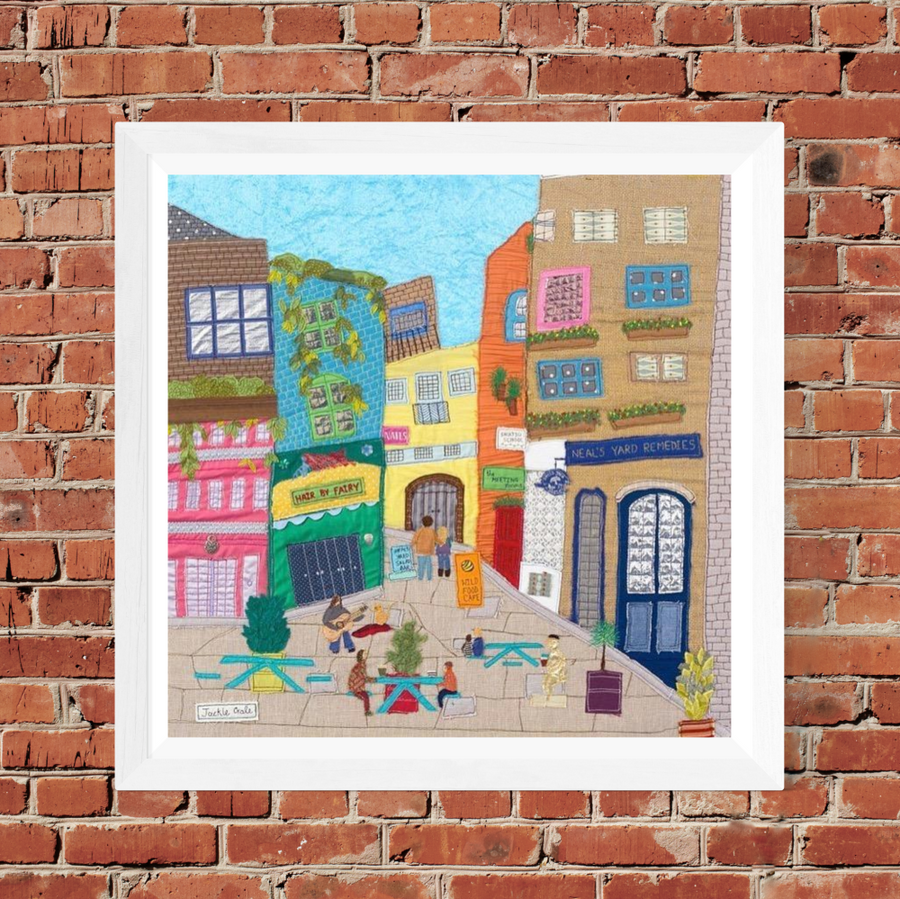 Covent Garden - Original Art by Jackie Gale, Textile Artist