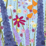 Floral Textile Artwork Close Up Image
