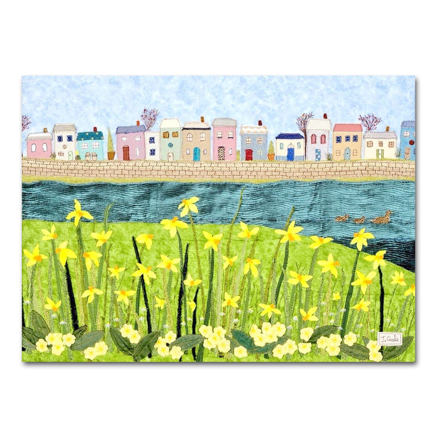 Daffodils And Spring, Textile Art Print, Devon