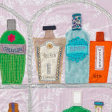 Gin Bottle Art, Jackie Gale, Textile Artist