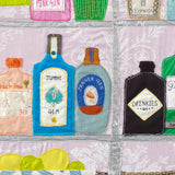 Gin Bottles, Close Up Detail by Jackie Gale, Plymouth Artist