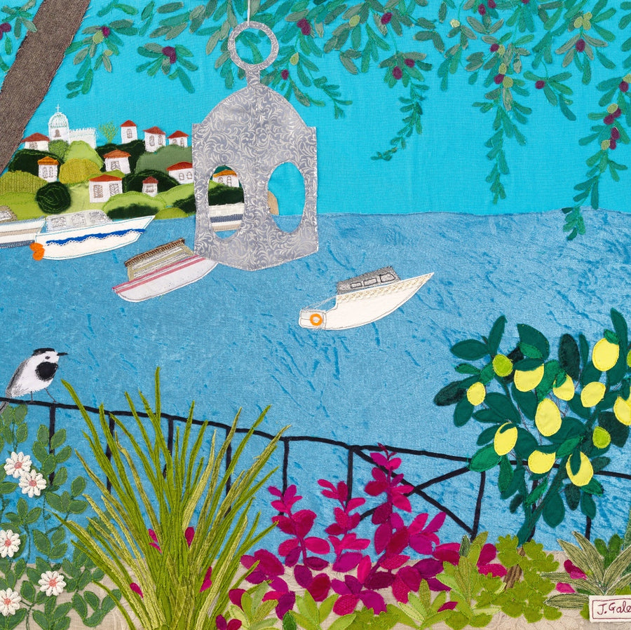 Greek Island Art - Jackie Gale Textile Art Original