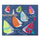 Sailing - Jibe Ho - Textile Art Print - Limited Edition Artwork