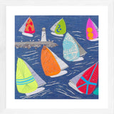 Sailing Art Print, Jibe Ho. Textile Art Limited Edition Print