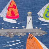 Sailing Boats - Textile Art Close Up - Jibe Ho, Jackie Gale