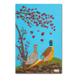 Pheasants By Jackie Gale, Box Canvas Art Print