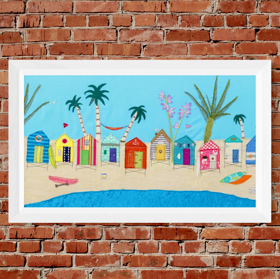 Life's A Beach - Original Textile Art (SOLD)